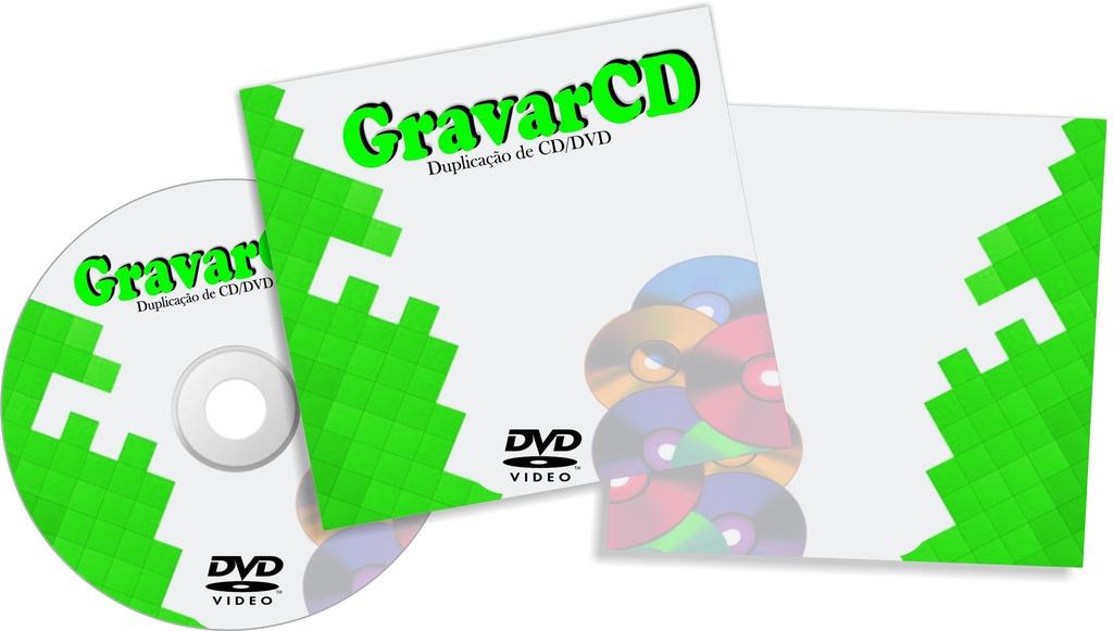 1000 Cópias de DVD com Envelope 12x12 Simples