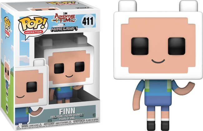 Funko Pop! Finn - Adventure Time ver Minecraft