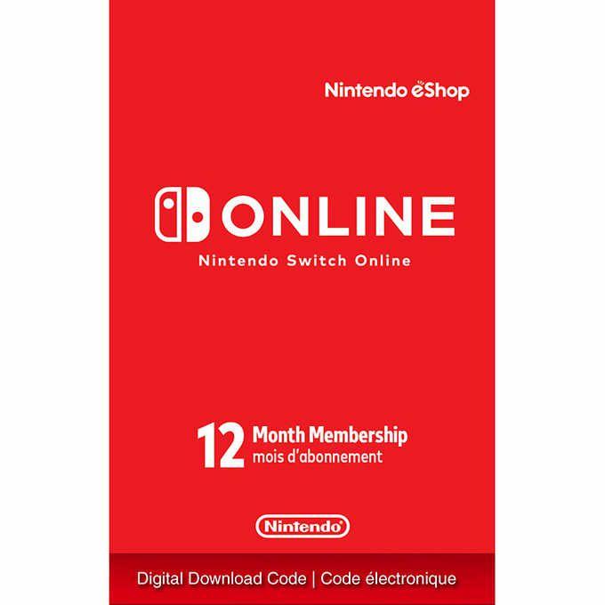 Membership 12 meses de assinatura online para Nintendo Switch