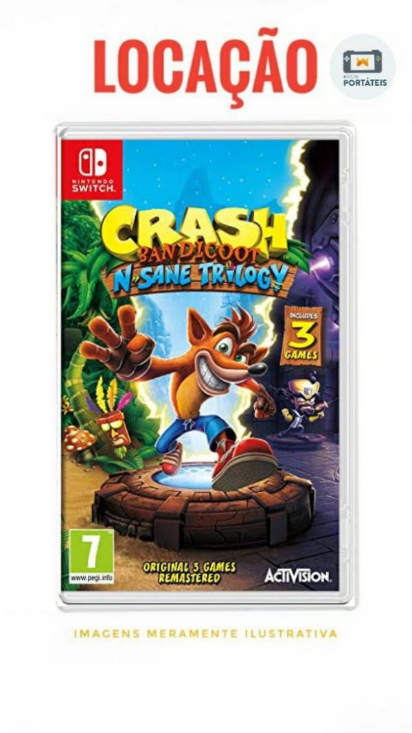 [ALUGADO] Crash Bandicoot N. Sane Trilogy Nintendo Switch