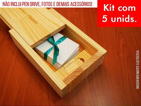Kit c/ 5 unidades - Caixa de Provas - Modelo 4 (Espaço para fotos + compartimento para pen drive)