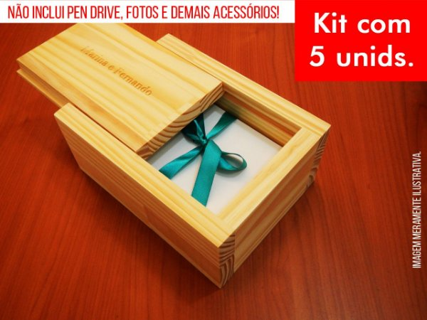 Kit c/ 5 unidades - Caixa de Provas - Modelo 4 (Espaço só para fotos)