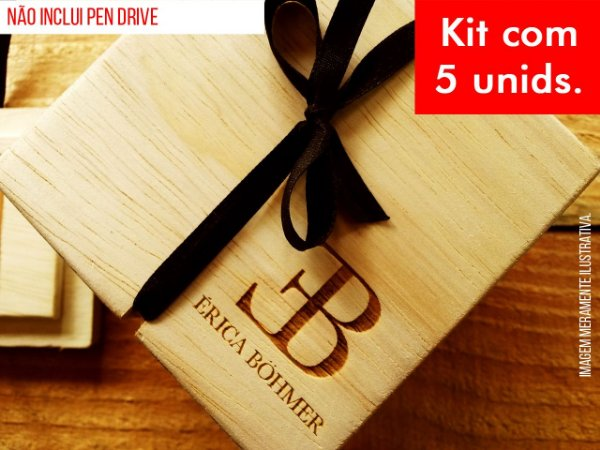 Kit c/ 5 unidades - Caixa p/ Pen Drive - Mod. 2
