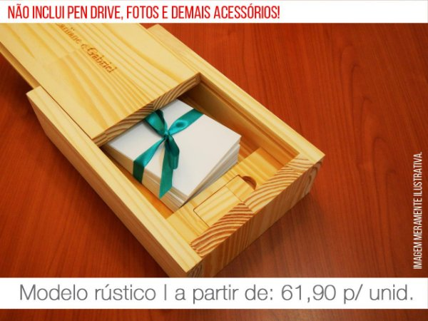 Caixa de Provas - Mod. 4 (Espaço para fotos + compartimento para pen drive)