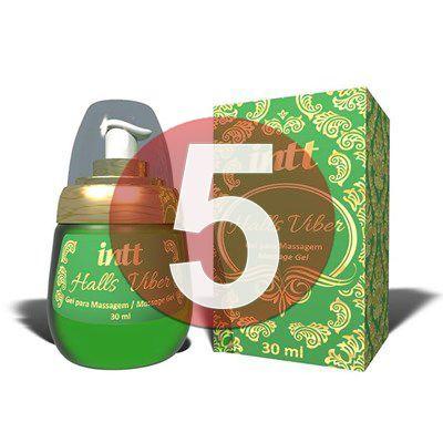 KIT05 - Halls Viber - gel sexo oral comestível 4 em 1 extra forte (lubrifica, esquenta, esfria e vibra) - 30 ml