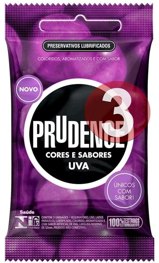 KIT03 - Preservativo camisinha prudence sabor uva - 3uni
