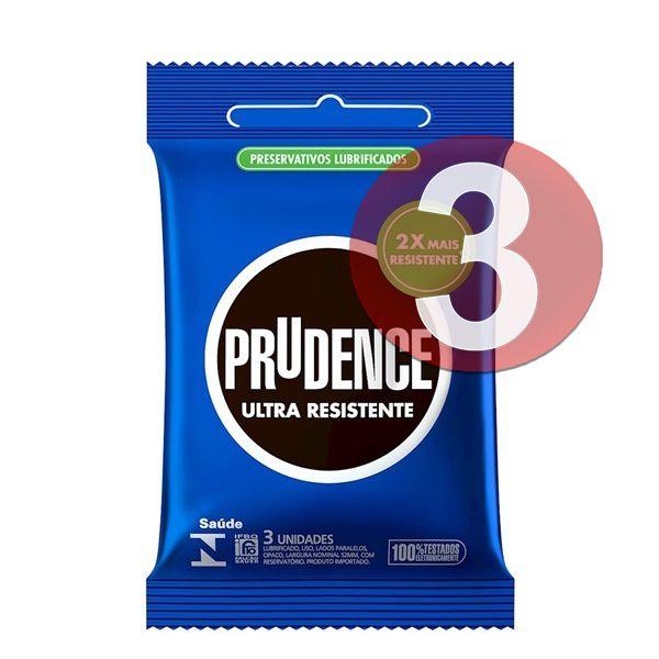 KIT03 - Preservativo camisinha prudence ultra resistente - 3uni