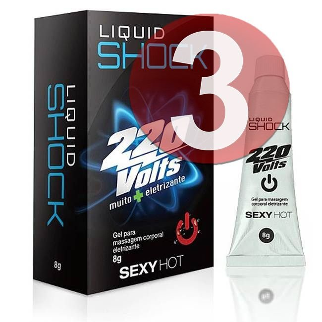 KIT03 - Liquid shock 220 volts vibrador líquido - 8gr
