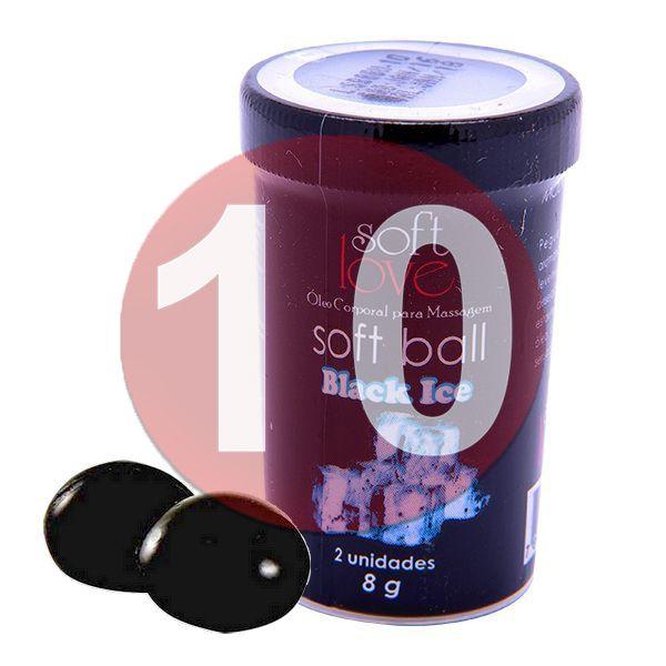 KIT10 - Bolinha comestível Ice - Black Ice