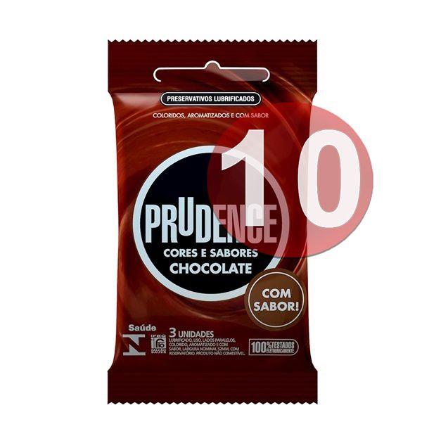 KIT10 - Preservativo camisinha prudence sabor chocolate - 3uni