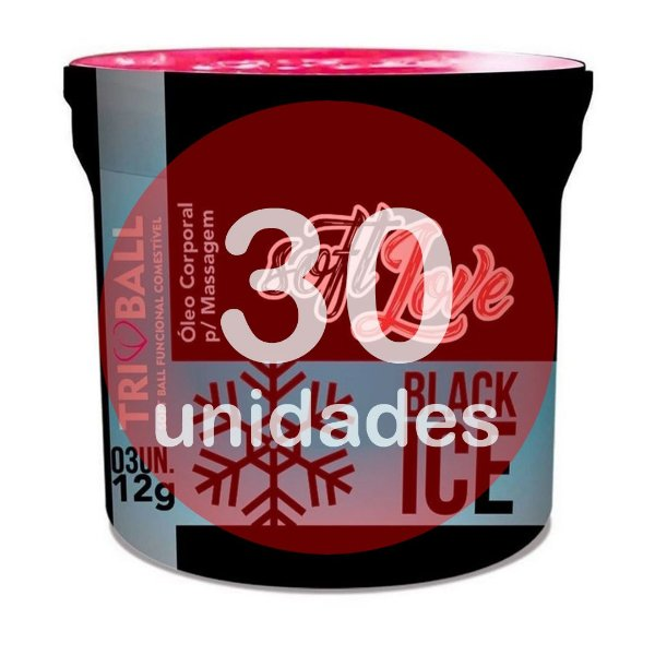 KIT30 - Bolinha do sexo - comestível Black Ice (função resfrescar)