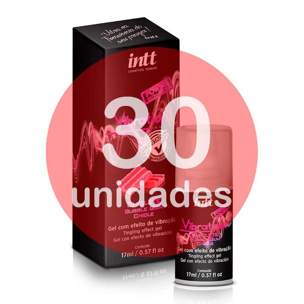 KIT30 - VIBRATION - CHICLETE - VIBRADOR LÍQUIDO