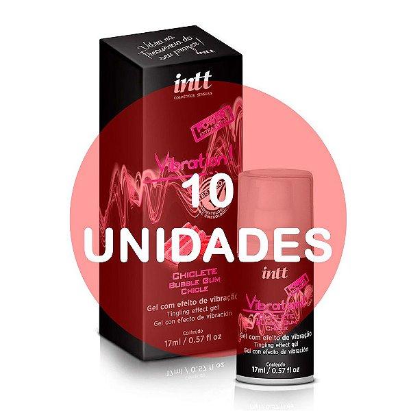 KIT10 - VIBRATION - CHICLETE - VIBRADOR LÍQUIDO EXTRA FORTE