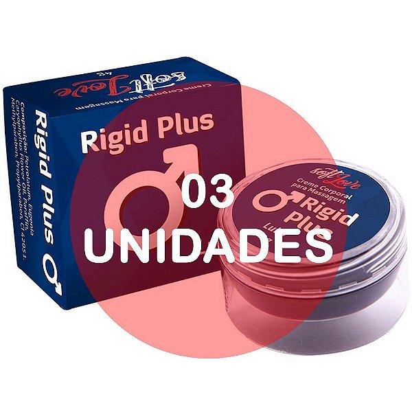 KIT03 - Rigid plus (provocador masculino para ereção) - pomada  4gr