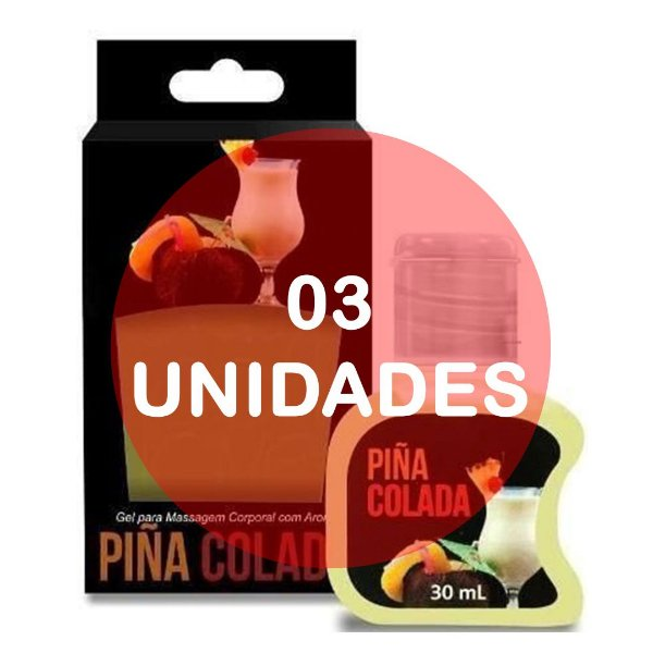 KIT03 - GEL COMESTÍVEL HOT 30ML - AROMA PINÃ COLADA