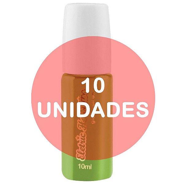 KIT10 - Gloss Gel Elétrico Hot Comestível 10ml - Uva Verde