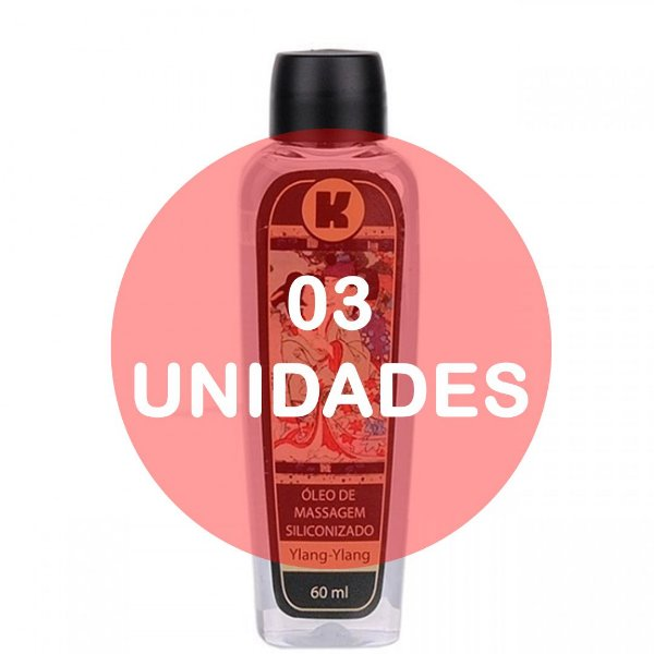 KIT03 - Óleo de massagem siliconizado - 60ml - fragrância ylang ylang