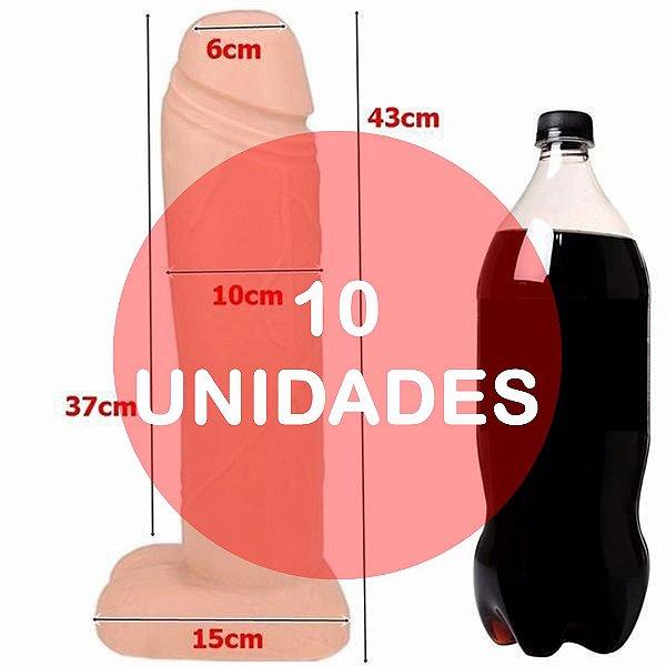 KIT10 - Pênis gigante 40 x 10cm - cor bege