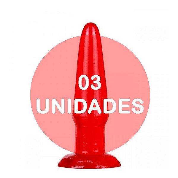 KIT03 - Plug anal vermelho 11.5x2.5cm