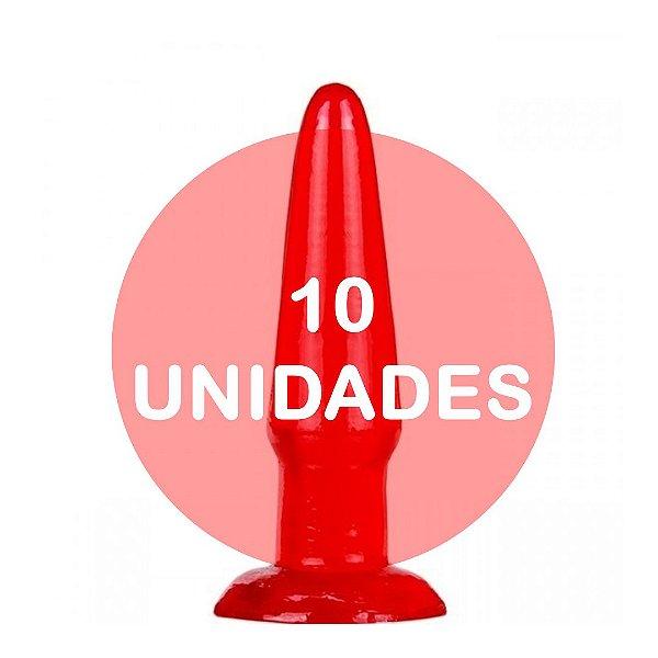 KIT10 - Plug anal vermelho 11.5x2.5cm