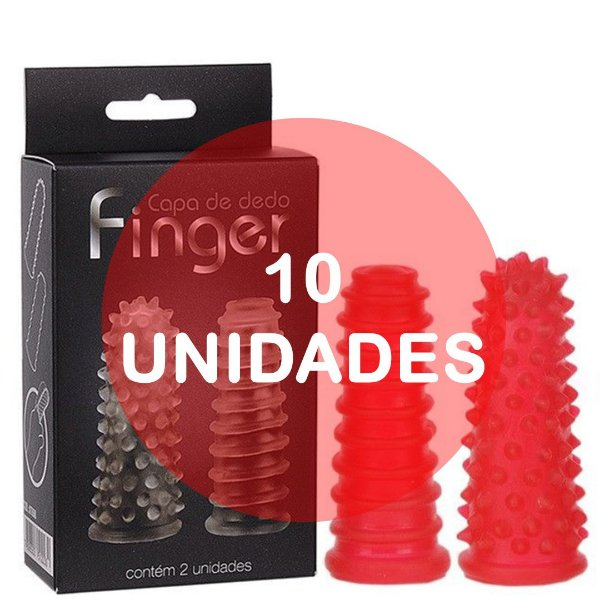 KIT10 - Dedeira capa de dedo reto vermelha