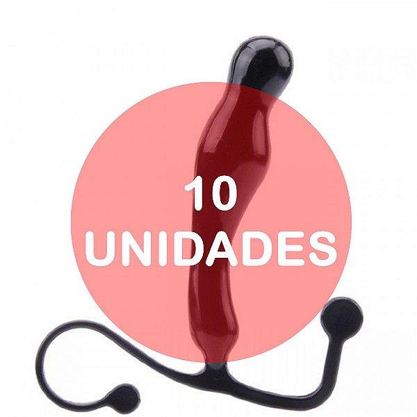 KIT10 - Massageador de prostata preto 11 x 2.2 cm