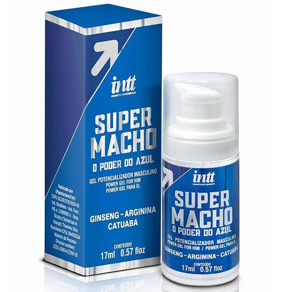 INTT SUPER MACHO - GEL POTENCIALIZADOR MASCULINO COM O PODER DO AZUL - 17 ML