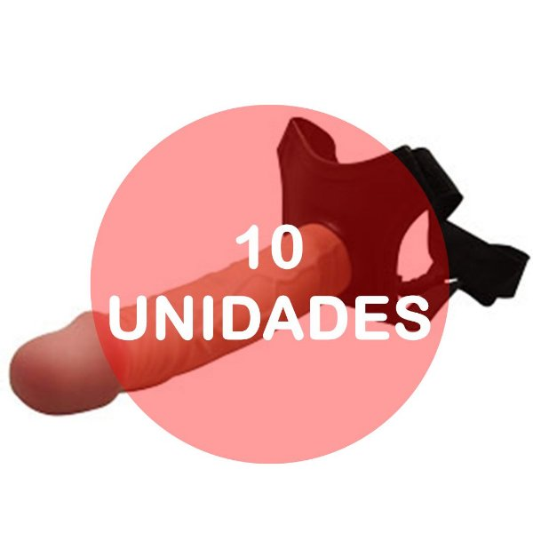 KIT10 - Cinta com pênis strapon 17.5 x 4 cm