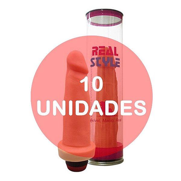 KIT10 - Pênis com vibrador 15cm (ideal para presente)
