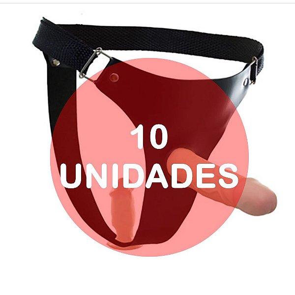 KIT10 - REAL PETER CINTA COM PÊNIS DUPLO 14,5 X 4 CM