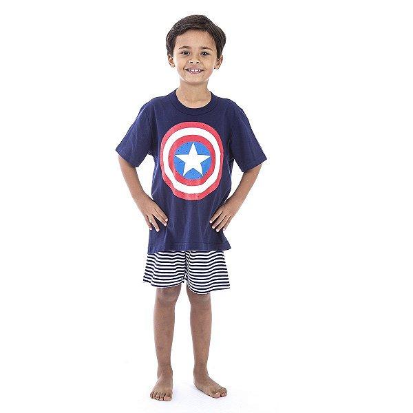 0d16319e6 Pijama Infantil Capitão América - Inspirate