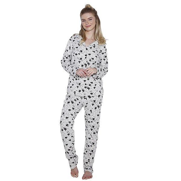 7a31e8e04 Pijama Aberto Feminino Estampado - Inspirate