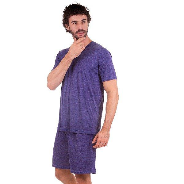 38606e56a Pijama Masculino Curto Jeans - Inspirate