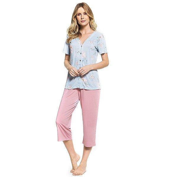 fb1246178 Pijama Feminino Aberto Capri Floral - Inspirate