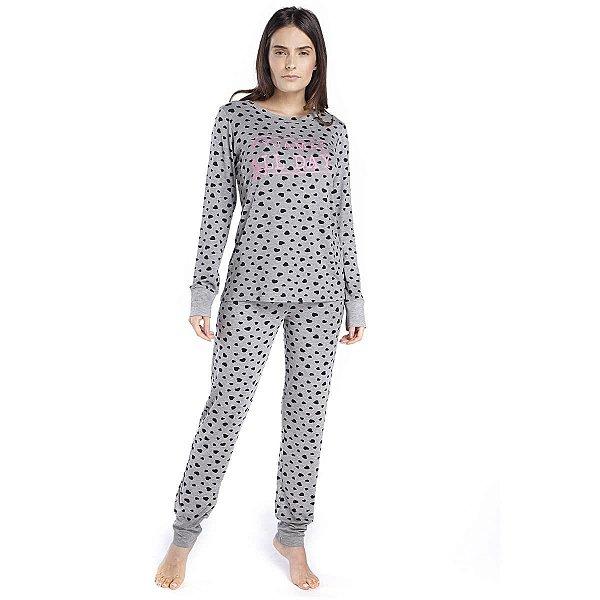 Pijama Feminino de Inverno Mescla All Day