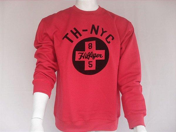 Moletom Tommy TH - NYC Vermelho - Novo!