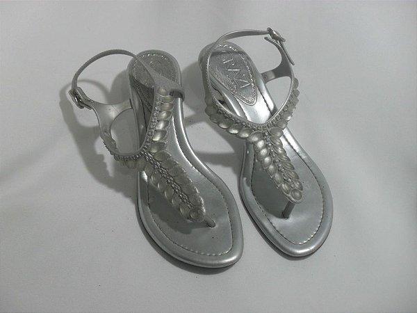 Sandália de Dedo Prata - Semi Nova!