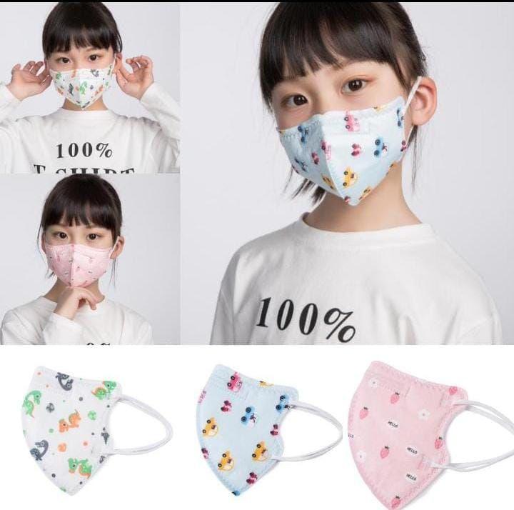 Máscara de Proteção Infantil kN95 pacote com 2 unidades - Disponiveis Azul ou Branca
