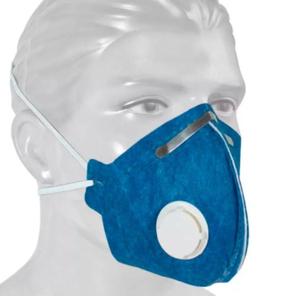 MÁSCARA DESCARTÁVEL PFF2 N95 COM VÁLVULA COM SELO DO INMETRO PARA H1N1 E CORONA VIRUS