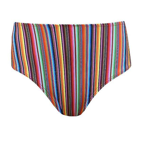 Calcinha de Biquíni Hot Pants Paleta Mexicana Colorido