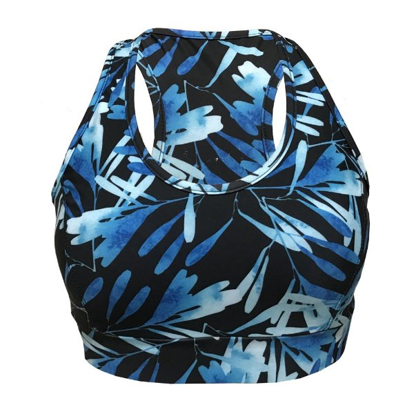 Top Vivie Fitness Aquarela Azul