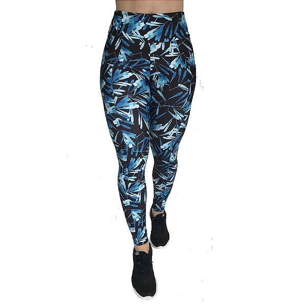 Calça Legging Vivie Fitness Aquarela Azul