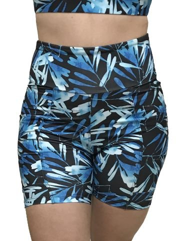 Shorts Vivie Fitness Aquarela Azul