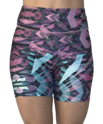 Shorts Vivie Fitness Azul e Rosa