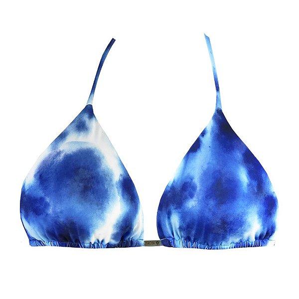 Top de Biquíni Cortininha Tie Dye Maldivas Azul