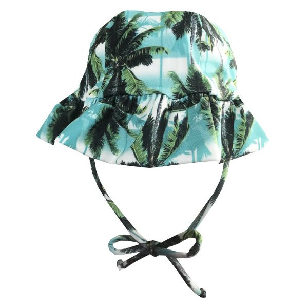 Chapéu de Praia Infantil Kids Coqueiro Verde