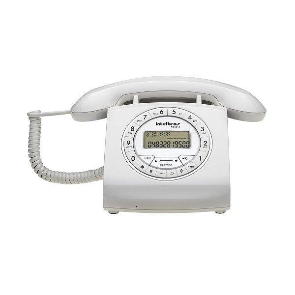 Telefone Com Fio Retrô TC 8312 Com Viva-Voz e Identificação de Chamadas Branco Intelbras