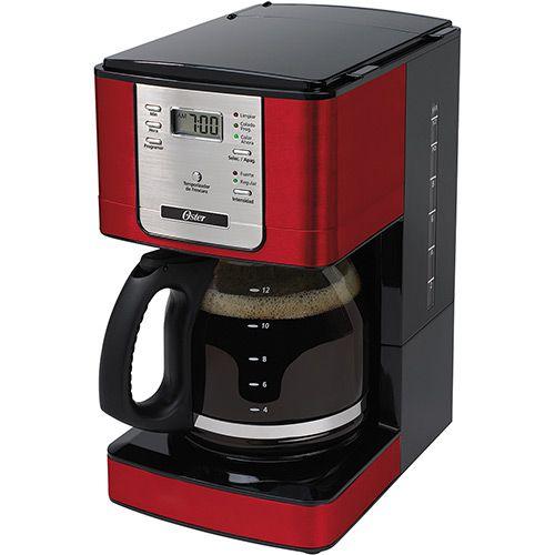 Cafeteira Elétrica Flavor Programável Vermelha 1,5L Oster 127V