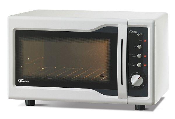 Forno Elétrico de Bancada Cook Grill 44L Branco Fischer 127V