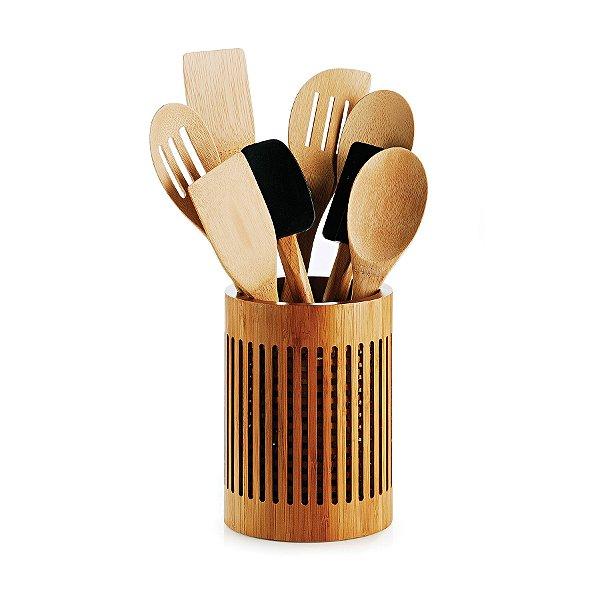 Porta Utensílios em Bambu Tóquio Welf